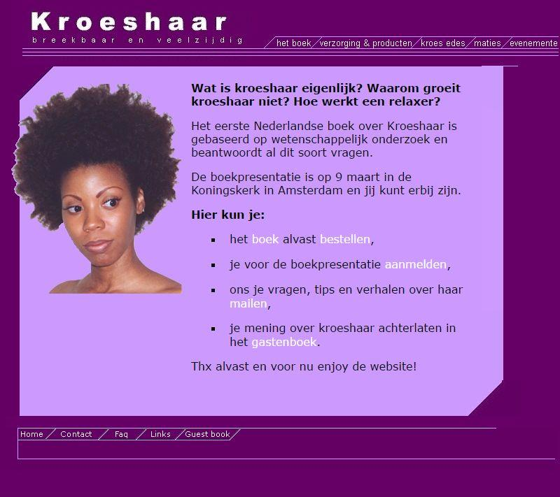 1ste kroeshaar website