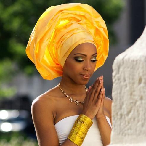 Gele, hoofddoek uit Afrika