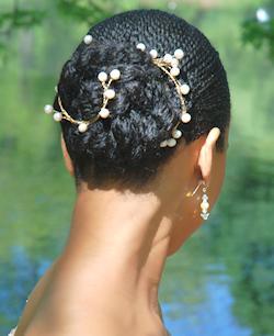 Bruidskapsel achterkant