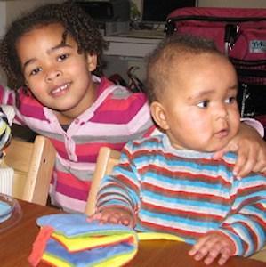 Kinderen met kroeshaar