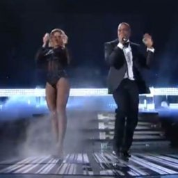 Beyonce and Jayz at the Grammy's