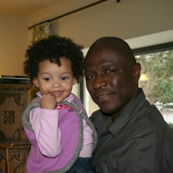 Kroeshaar vader en dochter