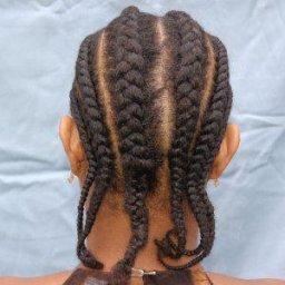 Cornrows of kwie kwieba