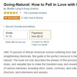 Going Natural How to Fall in Love with Nappy Hair nr. 1 on Amazon