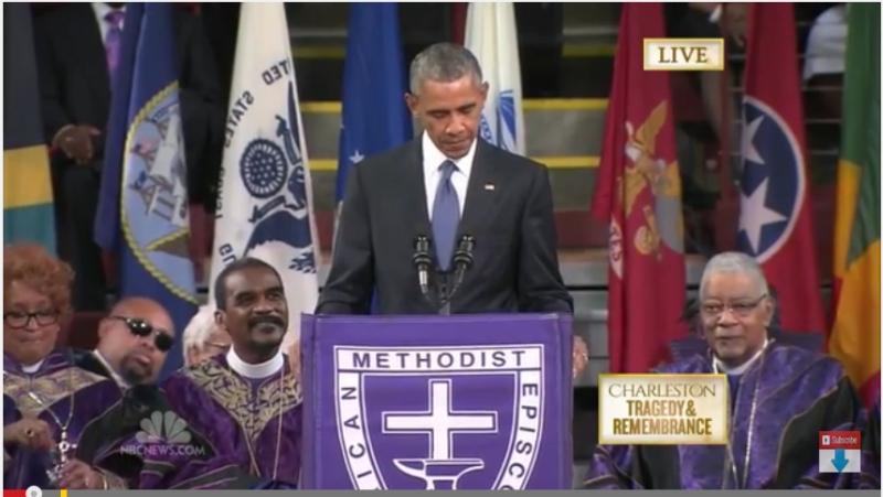 President Obama's grafrede voor Congreslid en Pastoor Clementa Pinckney