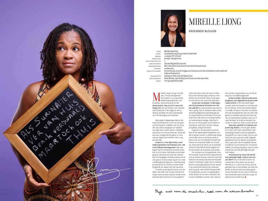 Mireille Liong in Surinae bekendt