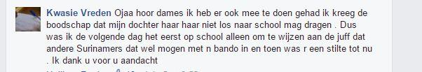 facebook post over kroeshaar