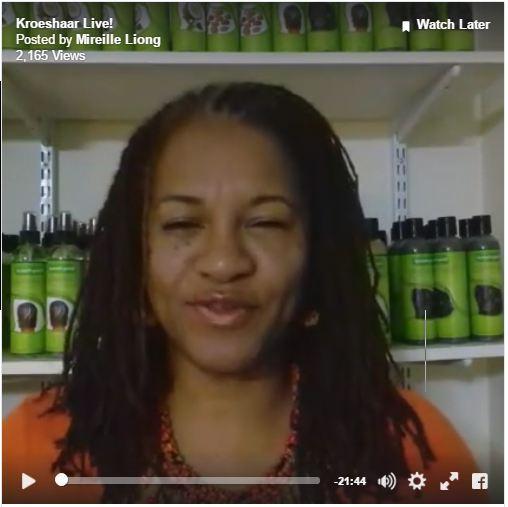 Kroeshaar Live Uitzending over Haarverzorging en producten