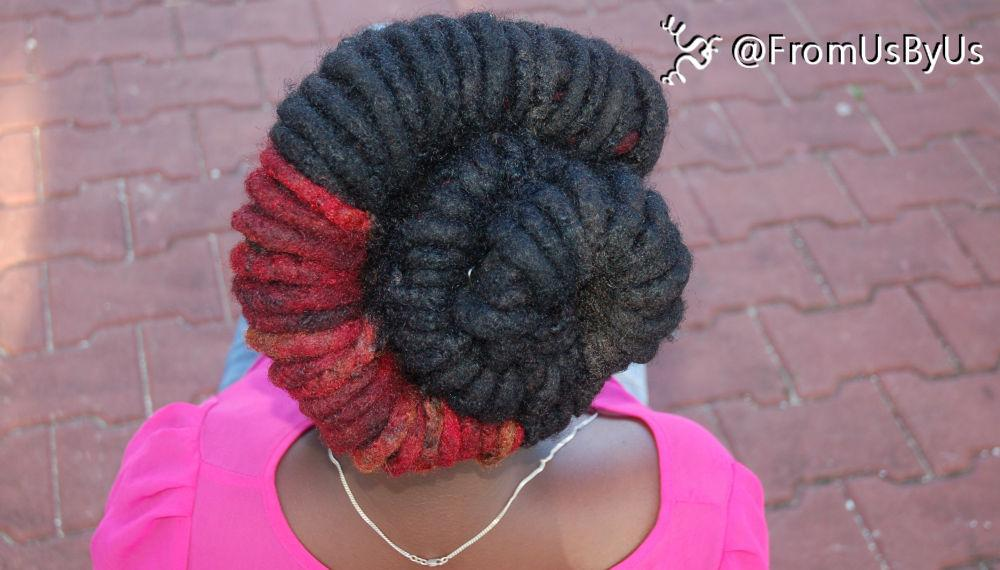 Dreadlocks Styled Rolled and Wrapped