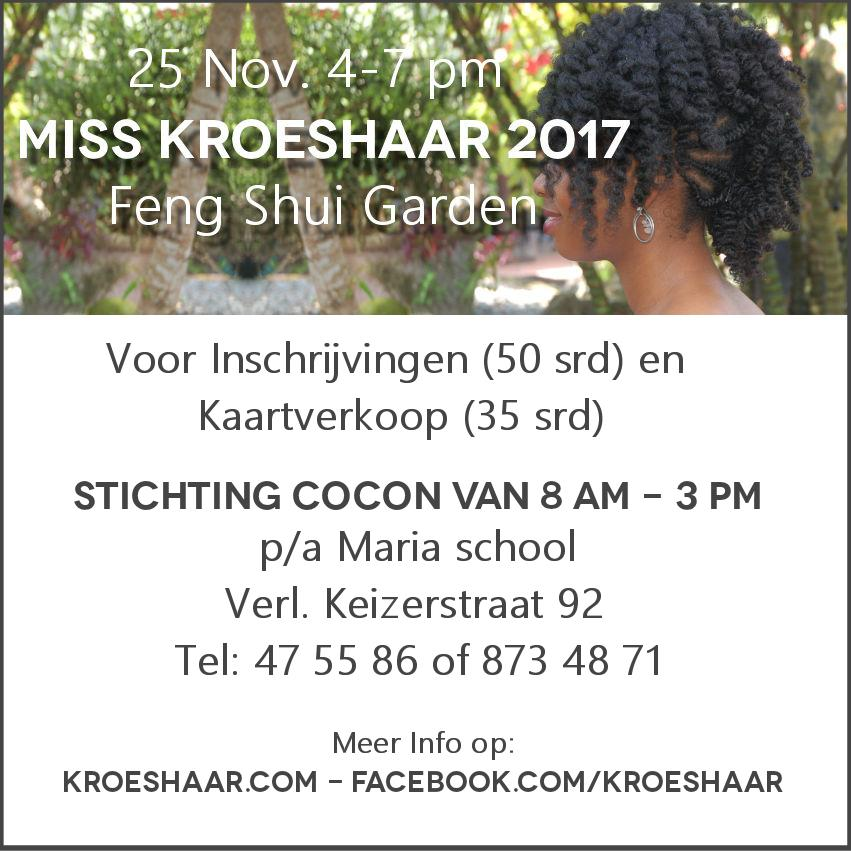 miss kroeshaar 2017 flyer