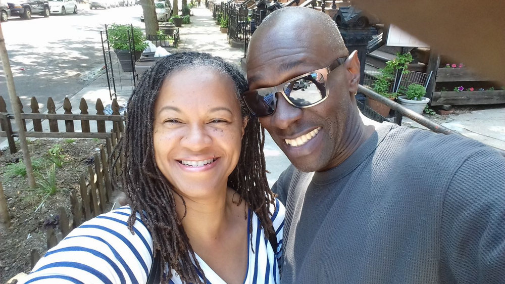 Mireille Liong with Kenneth in Bedstuy, NY